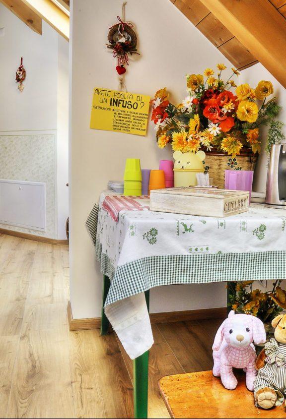 foto 1. il corridoio delle camere con l'Angolo degli infusi